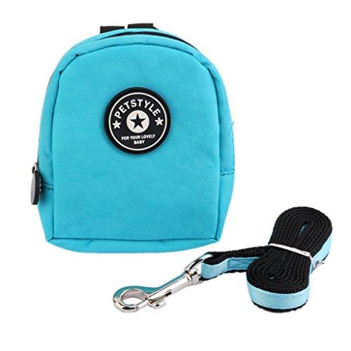 Generic Pet Dog Bag Backpack Carrier Harness School Bag leash Lead Adjustable Blue