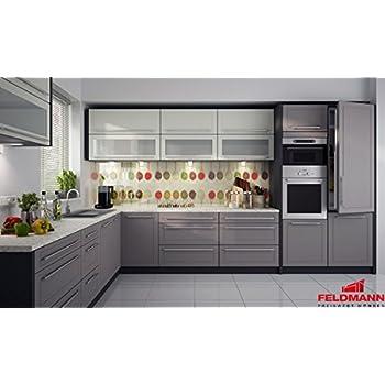 Küchenzeile 169038 küche l form 240x370cm lava vanille beige