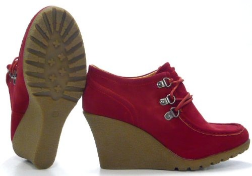 Schuh Rot Wedge city Pumps High Fashion Boots Moccasins Ancle rrq4awO