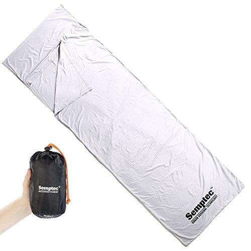Semptec Urban Survival Technology Schlafsack: Inlett Mikrofaser-Hüttenschlafsack, Rechteckform (Mikrofaser Schlafsack)