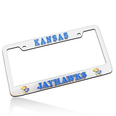 University of Kansas Jayhawks 3D Chrome License Plate Frame