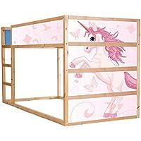 Preisvergleich für Stikkipix Einhorn Möbelfolie selbstklebend/Aufkleber - IM204 - passend für das Kinderzimmer Hochbett KURA von IKEA - Möbel Nicht Inklusive