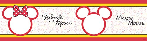 AG Diseño wbd 8068 Disney Mickey Mouse, cenefa adhesiva, 0,14 x 5 m – 1 rollo, papel, Colorful, 500 x 14 cm
