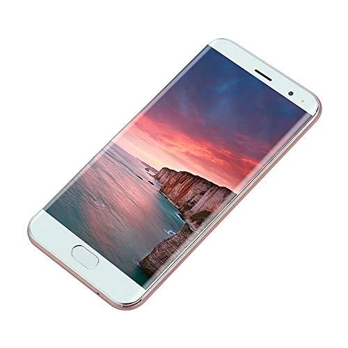 JYC 5.0 Pulgadas Dual SIM Smartphone Android 6.0 1G+4G Pantalla Completa gsm/WCDMA Pantalla táctil WiFi Bluetooth GPS 3G Llame al teléfono móvil (Oro Rosa)