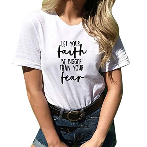 TWIFER Logo Gedruckt Sommer Shirt Damen Lose Kurzärmeliges Druck T Shirt Lose Oansatz Spitze Der Art Und Weise -