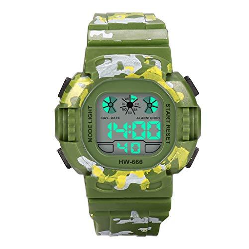 en Mode High-End LED Multifunktions 30 Mt Sport wasserdichte Elektronische Uhr PU Strap Glasspiegel Geeignet Für Duschen, SchwimMänner Und Tauchen Leuchtende Uhren ()