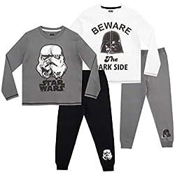 STAR WARS - Ensemble De Pyjamas - Paquet de 2 - Stormtrooper et Darth Vader - Garçon - Multicolore - 10-11 Ans