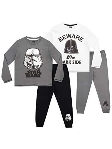 Star Wars Jungen Stormtrooper und Darth Vader 2 Packung Schlafanzug Mehrfarbig 128