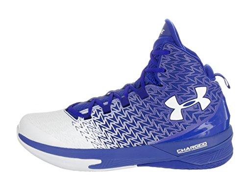 Under Armour Mens UA Clutchfit Drive 3 Basketball Shoes Blue / White-white