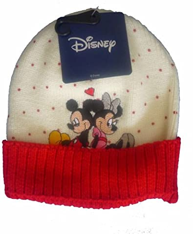 Bonnet Blanc Mickey Mouse et Minnie Mouse