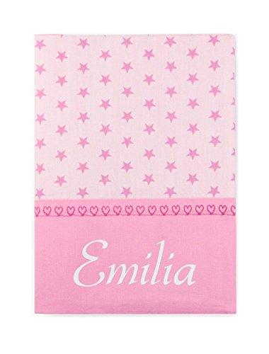 personalisierte U Heft Hülle Sterne rosa