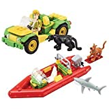 Scooby-Doo! Jungle 4x4 & Speedboat Playset 120 pcs by Character Building