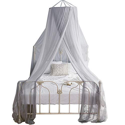 Wenset Bunt Princess Moskitonetz, Mesh 320 Groß Bett baldachin Für Einzelbett Doppelbett Insektenschutznetz Einfache installation Betthimmel-Grau