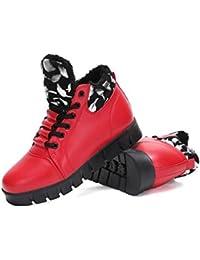 BUSL Zapatos de invierno de las zapatillas de deporte de los zapatos de la bota de las mujeres . red . 36