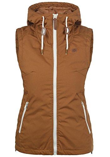 DESIRES Tilda Damen Weste Outdoor-Weste mit Kapuze und Stehkragen, Größe:XL, Farbe:Cinnamon (5056)