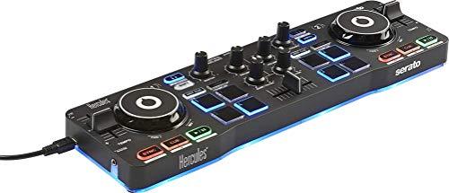 Hercules DJControl Starlight (2-Deck DJ Controller, 8 Pads, integr. Soundkarte, Beleuchtung, Serato DJ Intro, PC / Mac)