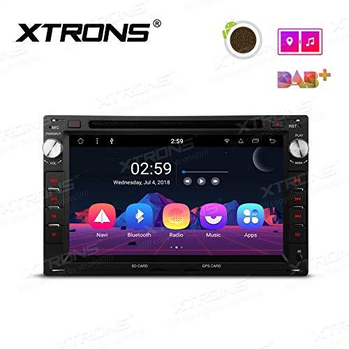 XTRONS Android 8.1 Coche estéreo Octa Core 7 Pulgadas HD Digital Multitáctil Unidad de Cabeza de Pantalla Bluetooth Coche Radio Multimedia Player WiFi GPS 4K Video Coche DVD Player para VW Passat B5