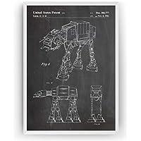 AT-AT Walker Poster de Patente Patent Póster Con Diseños Patentes Decoracion de Hogar Inventos Carteles Prints Wall Art Posters Regalos Para Hombres Mujeres Decor Blueprint - Marco No Incluido