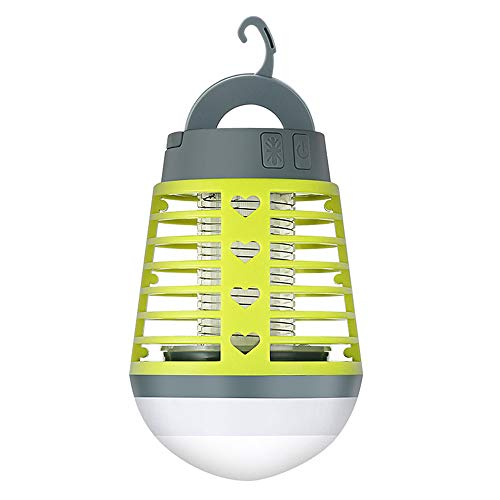 Lixada Moskito Lampe 2-in-1 Campinglampe Waterproof Camping Lantern USB Mückenkiller