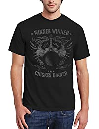 clothinx Herren T-Shirt King of Chickens - Winner Winner