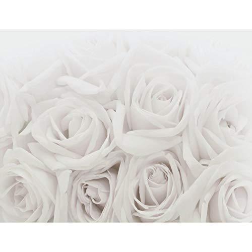 Tapisserie Photo Roses de fleurs 352 x 250 cm Laine papier peint Salon Chambre Bureau Couloir décoration Peinture murale décor mural moderne - 100% FABRIQUÉ EN ALLEMAGNE - 9258011c