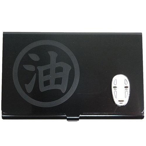 studio-ghbli-chihiro-metal-tarjeta-caso-kaonashi-negro-de-japon