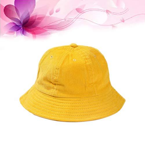 alsu3luy02Ld Cappello da Pescatore Unisex in Velluto a Coste Ripiegabile da Viaggio
