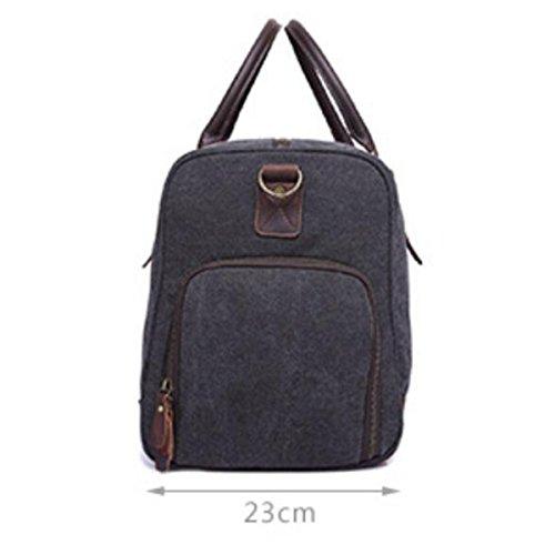Canvas Messenger Bag Große Kapazität Rucksack Mode Handtasche Aktentasche Cross,DarkGray DarkGray