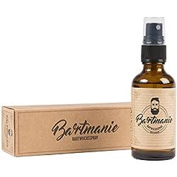 Bartmanie Bartspray (50ml), Spray zur Förderung des Bartwuchses & Bartpflege, Bartwuchsmittel für einen kräftigen, vitalen & vollen Bart, Bart-Pflegeprodukt für Männer