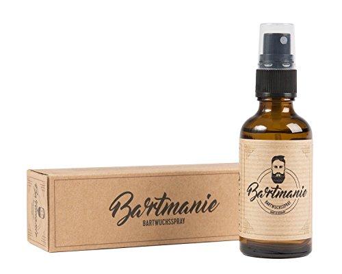 Bartmanie Bartspray zur Bartpflege und Förderung des Bartwuchses, Bartwuchsmittel für einen kräftigen und vollen Bart (50ml)