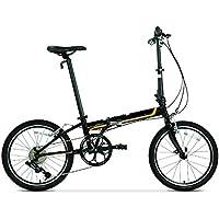 XMIMI Bicicleta Plegable Cromo molibdeno Acero Marco Velocidad Hombres y Mujeres Adultos Bicicleta Plegable 20 Pulgadas