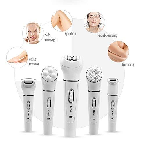 5in1 Multifunktions Weiblichen Epilierer Elektrische Gesichtsreinigung Pinsel Haarentfernung Enthaarungsmittel Maschine Enthaarungsmittel Frauen Rasierer 5 (Color : KM 2199) - Multifunktions-gesichtsbehandlung-maschine