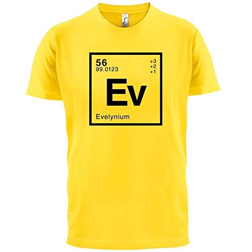 Evelyn Periodensystem - Herren T-Shirt - 13 Farben Gelb