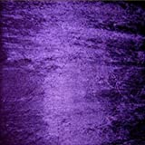 Cadbury Purple Crushed Velvet velour Dress Fabric - per metre