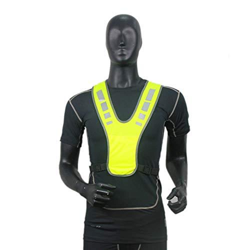 AchidistviQ Unisex Warnweste für Laufen und Radfahren, hohe Sichtbarkeit, reflektierende Weste Fluoreszierendes gelb - Das Fluoreszierende Licht, Reflektoren