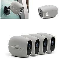 Coques en Silicone pour Arlo Pro (4 pièces Gris) pour Arlo Pro et Pro 2 Pro2 - Étui de Protection sans Fil pour Caméra - pour Netgear Arlo Pro Accessoires de Sécurité Smart VMA4200B - Ajustement Parfait - By Sully