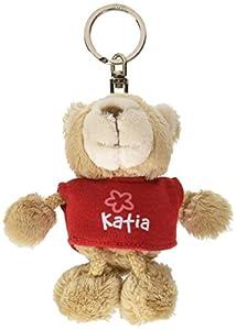 NICI n15816-Llavero Oso con Camiseta Katia, Rojo