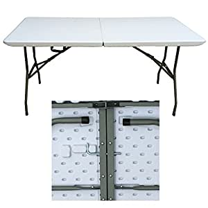 Redstone 6ft Folding Trestle Table - Super Strong 300kg Load Capacity - Unique Lock Mechanism - Delivery Packaging With Polystyrene Side Protection To Prevent Damage