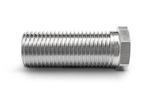 Keenberk Hohl-Schraube kurz, Länge 25 mm für Siebkorbventile M12 x 1,5 mm - universell passend für 1,5 und 3,5 Zoll Ventil-Abläufe