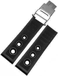 [Ritchie da] 22mm nero silicone Watch Band cinturino in gomma fibbia accessori per Breitling Superocean Heritage Avenger
