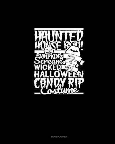 umpkins Scream Trick or Treat Wicked Halloween Candy Rip Costume: Menu Planner ()