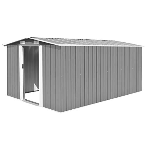 tidyard Caseta de Jardín Exterior con 4 Ventilación para Almacenamiento de Herramientas de A...