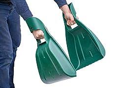 UPP Laubgreifer 2-teilig aus TOP-Qualitätskunststoff | Ergonomisch designter Laubsammler hilft bei der Gartenpflege | Schnell und kontaktfrei Laub & Verschnitt ausfammeln