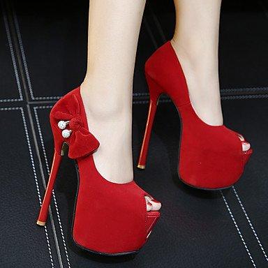 Moda Donna Sandali Sexy Donna Sandali sandali estivi / punta aperta abito pu Stiletto Heel altri nero / rosso altri Red
