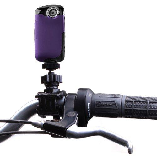 USA Gear Action Kamera Halterung für Lenker und Stangen von ATVs, Motocross Bikes, Fahrrädern, BMX Rädern oder Booten mit Stativschraube mit 360 Grad drehendem Hals und Action Style Montage