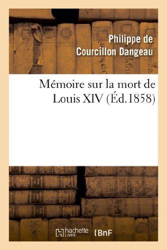 Mémoire sur la mort de Louis XIV