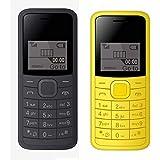 I KALL 1.44 Inch (3.65 Cm) Single Sim Feature Phone Combo - K73 (Black + Yellow)