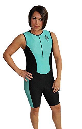 Astek Damen zurückhaltenden Triathlon-Anzug Swim Bike Run 2014, aqua