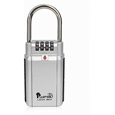 Caja Fuerte, P.LOTOR Master Lock Caja Portable de Llaves con Cifro, perfecto para el coche