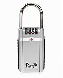 Schlüssel-Safe, P.LOTOR Big Kapazität Key Storage Sichere Kombinationsschloss, Türgriff für Makler Verwendung im Freien, Perfekt für Auto Sicher